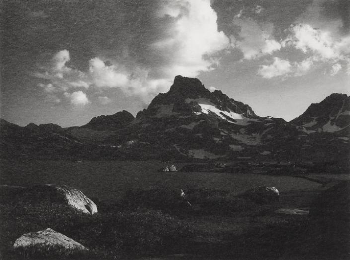 """Banner Peak, Thousand Island Lake,""1923, Original Photograph by Ansel Adams"