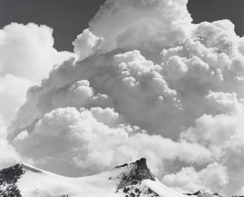 "Ansel Adams, ""Unicorn Peak, Thunderclouds"""