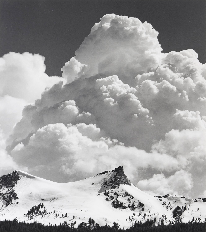 "Ansel Adams, ""Unicorn Peak, Thunderclouds"""