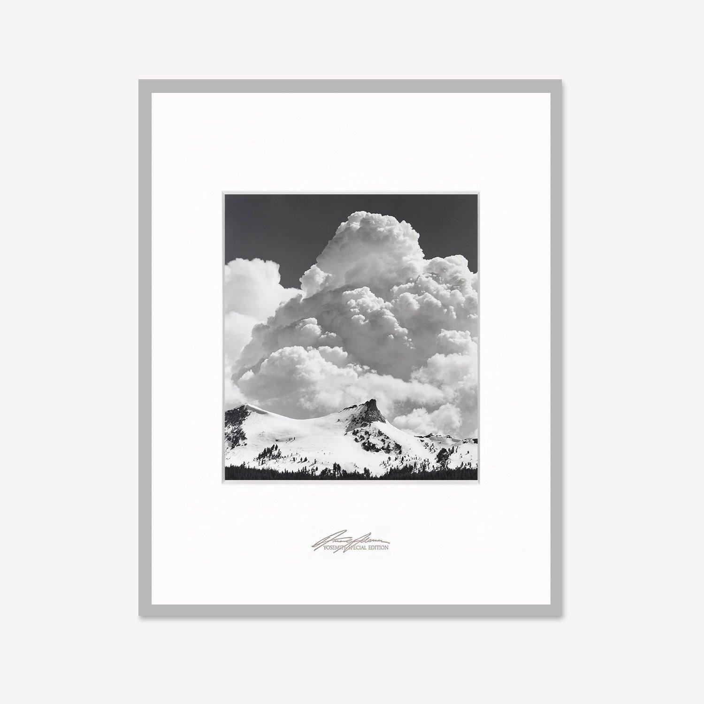 "Ansel Adams, ""Unicorn Peak, Thunderclouds"" Framed"