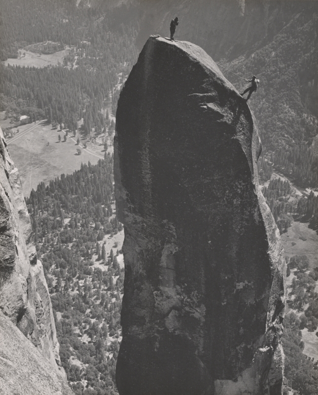Ansel Adams, First Ascent of the Lost Arrow, early Yosemite Climbing
