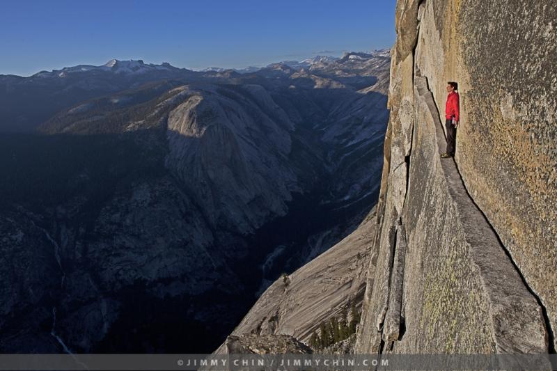 Alex Honnold on Thank God Ledge, Yosemite Climbing